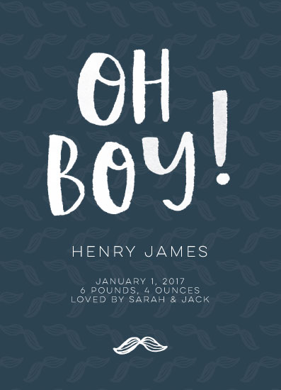 birth announcements - Little Guy by Design Squeeze