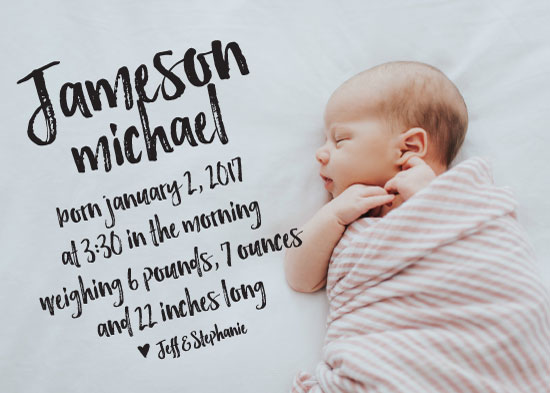 birth announcements - Graffiti Baby by The Paper Proposal