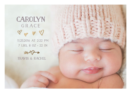 birth announcements - Whimsy Heart by The Paper Proposal