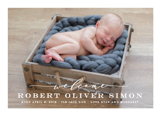 birth announcements - Modern Welcome by Michelle Poe