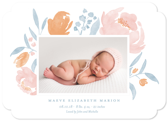 birth announcements - Precious Petals by Oscar & Emma