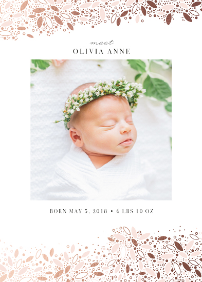birth announcements - organic leaves by lena barakat