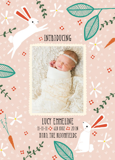birth announcements - Spring Bunny Baby Announcement by Stacie Bloomfield