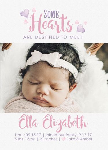 birth announcements - Hearts Destined to meet by Amanda Zoss