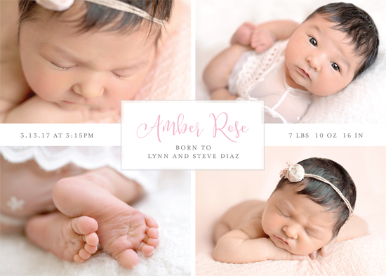 birth announcements - Boxed Baby by Gray Star Design
