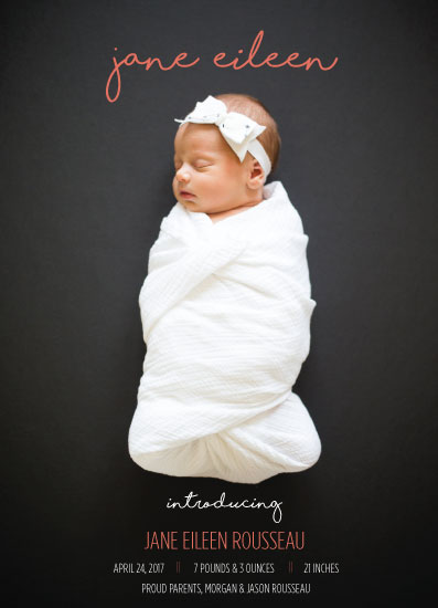 birth announcements - Contemporary Cutie by JOHNONE 3 DESIGNS