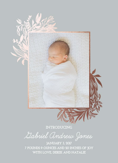 birth announcements - Baby Laurels by West Sheridan