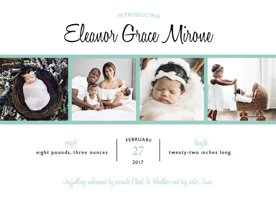 birth announcements - Family Photo Strip by JOHNONE 3 DESIGNS