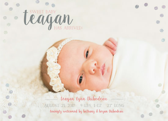 birth announcements - Sweet Baby Sparkle by JOHNONE 3 DESIGNS