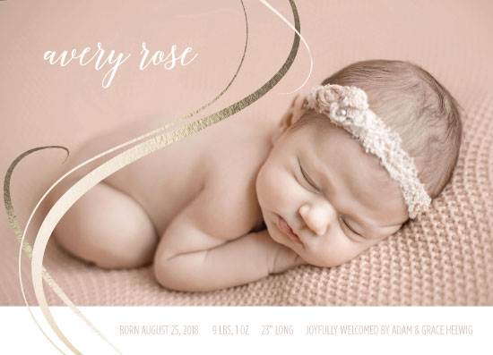 birth announcements - Swirly Girly by JOHNONE 3 DESIGNS