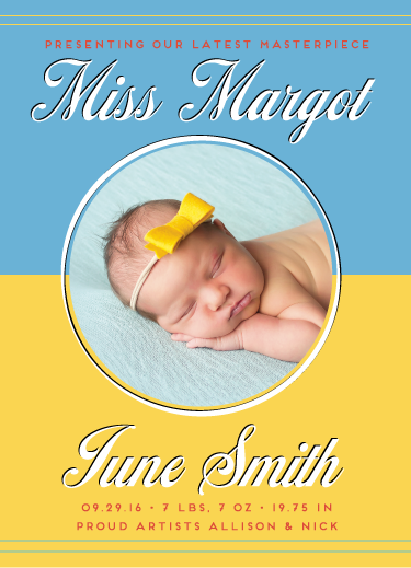 birth announcements - Masterpiece by Allison Hasel