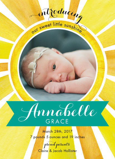 birth announcements - Little Sunshine by Lauren M Design
