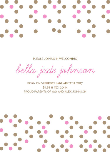 birth announcements - Polka Dot by Jessica Mighton