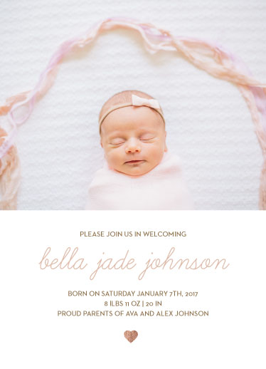 birth announcements - Heart of Gold by Jessica Mighton