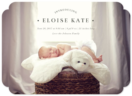 birth announcements - formal introduction by Kasia Labocki