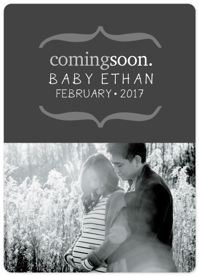 birth announcements - Baby Coming Soon by Janelle Williams