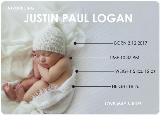 birth announcements - Baby Diagram by Mariko Iwata