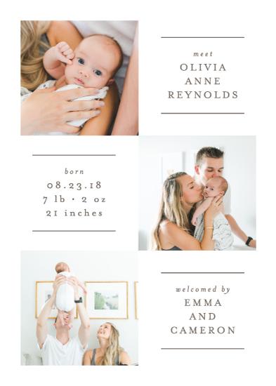 birth announcements - Linear by Lehan Veenker