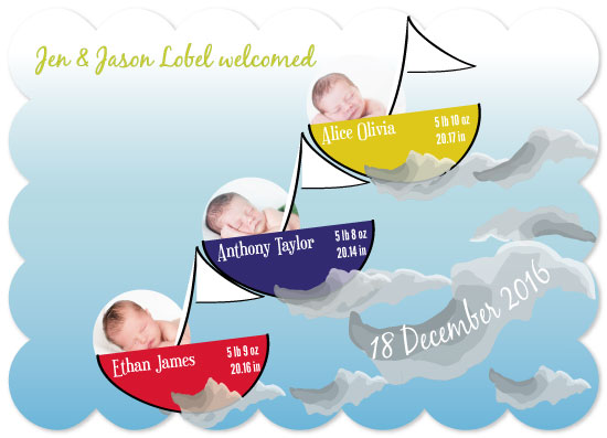 birth announcements - Dream Boats by Dazeley