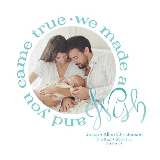 birth announcements - Watercolor Wish - Modern by Shannon Christensen