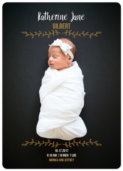birth announcements - Baby Autumn by Kristina Me