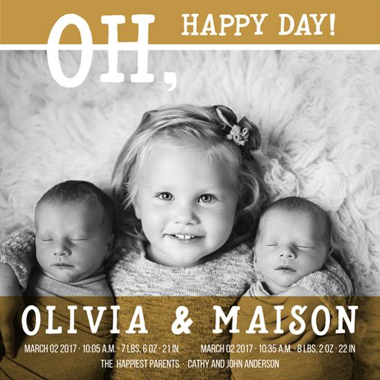 birth announcements - siblings by Metka Slamic