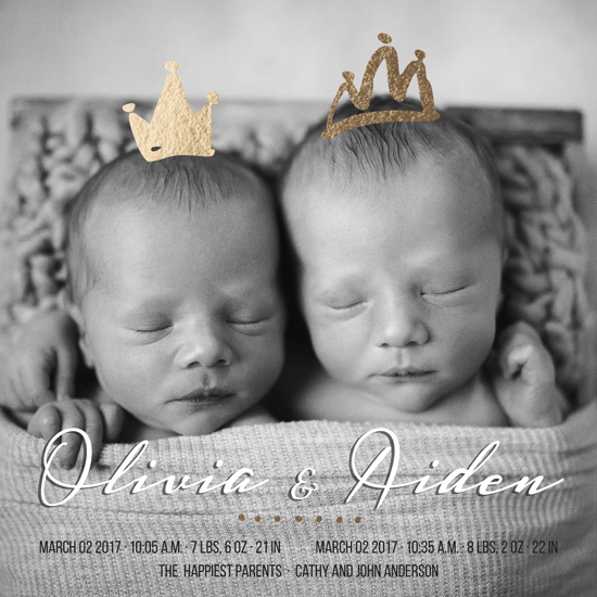 birth announcements - Prince and Princess by Metka Slamic