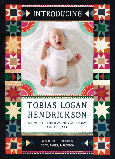 birth announcements - Quilted Folk by BreeAnn Veenstra