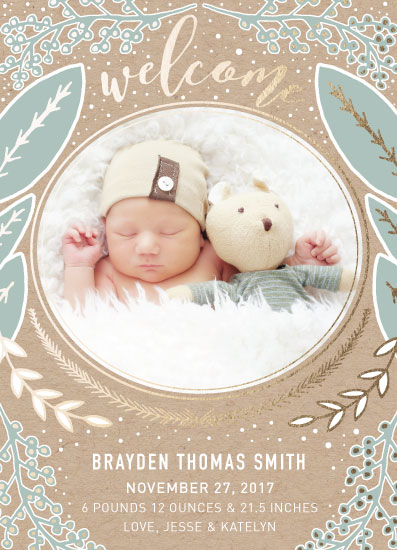 birth announcements - Nature Welcome by Mabe Design Co.