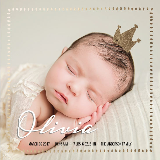 birth announcements - Baby princess by Metka Slamic
