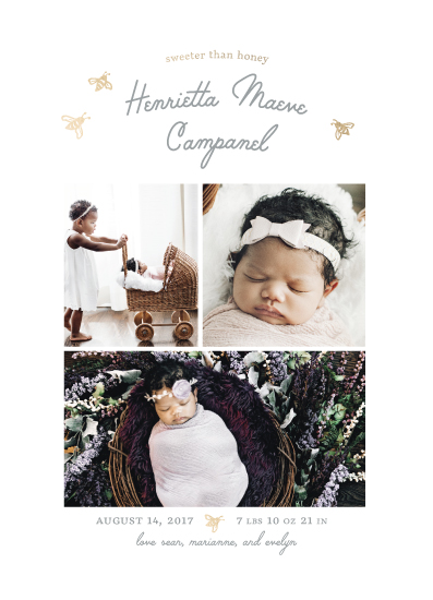 birth announcements - Sweet Honeybee by BreeAnn Veenstra