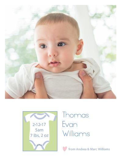 birth announcements - Onsie birth announcement by Vicky Enright