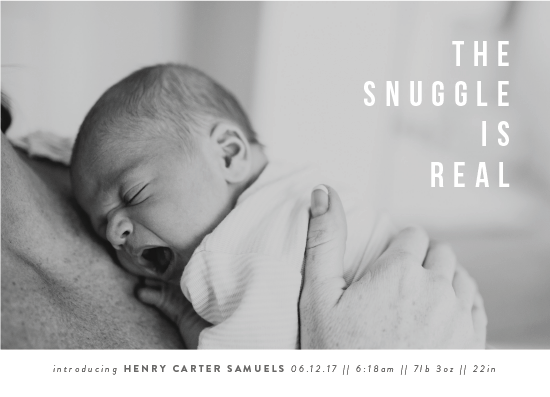 birth announcements - The Snuggle is Real by Up Up Creative
