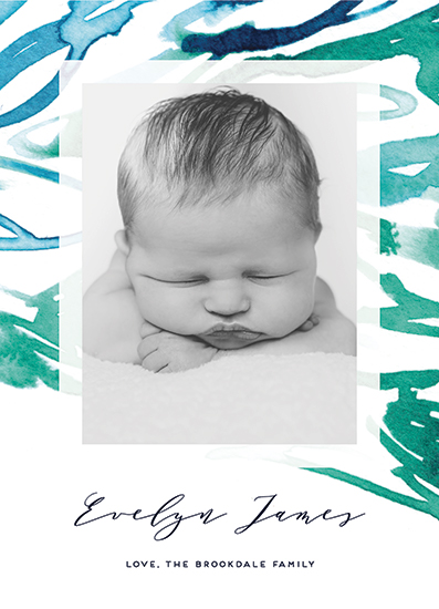 birth announcements - Tranquil Stripes by Simona Cavallaro