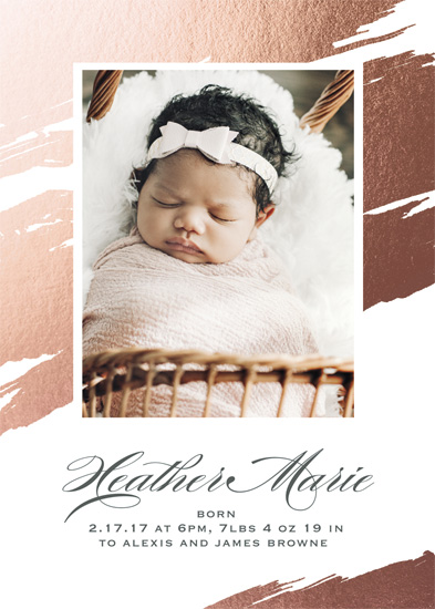 birth announcements - Brushstrokes by Gray Star Design