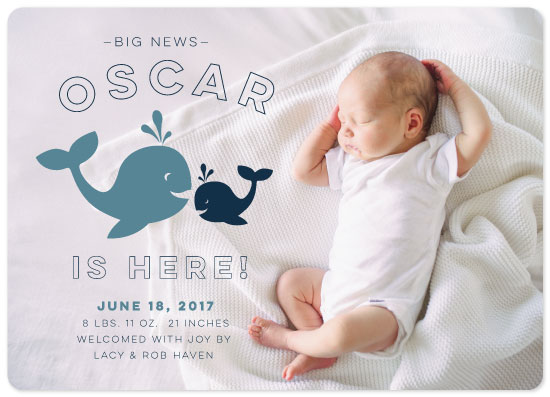 birth announcements - Big News by Rachel K. Swanson