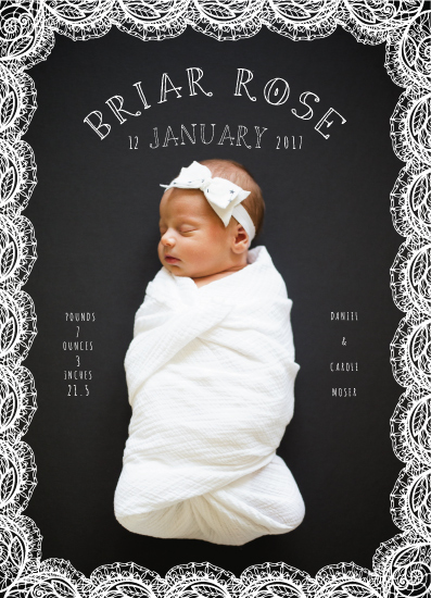 birth announcements - Glitter N' Lace by CaroleeXpressions