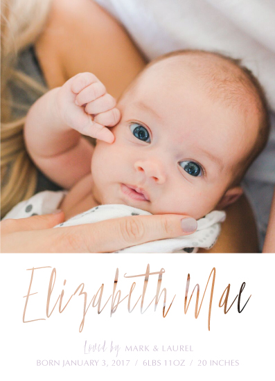 birth announcements - Lovely Name by Jenn Wheat