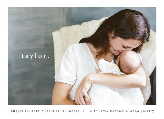 birth announcements - simple type by Faith Dorn