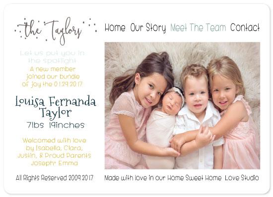 birth announcements - Our Bundle of Joy by Vivian Design