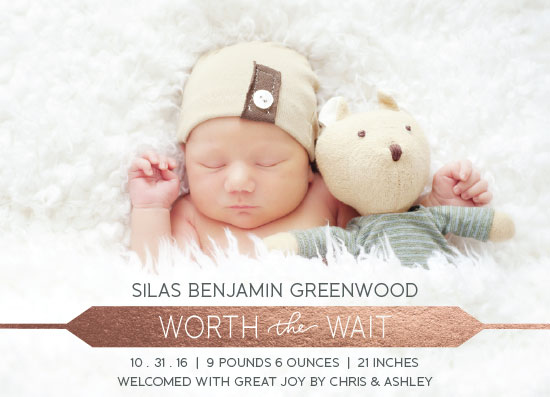 birth announcements - Finally Here by West Sheridan