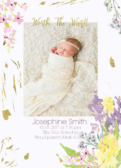 birth announcements - That smile worth the wait! by Vivian Design