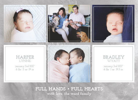 birth announcements - Full Hands Full Hearts by West Sheridan