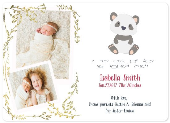 birth announcements - A new pack of joy! by Vivian Design