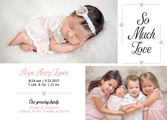 birth announcements - Loving Family by MoMint