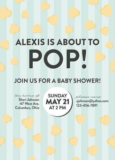 baby shower invitations - about to pop! by Lauren Gerig