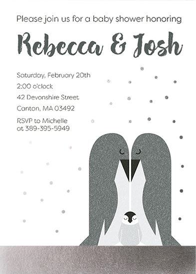 baby shower invitations - Penguin Family by Julie McCarthy