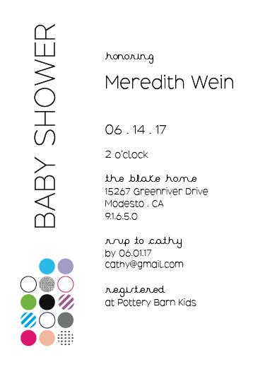 baby shower invitations - Clean Pop by Lauren Rondou