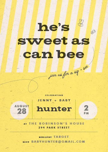 baby shower invitations - A buzz by Heather Cranston-Lesniewski