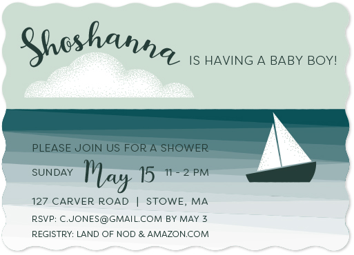 baby shower invitations - Boat Adventure by Julie McCarthy